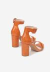 Pomarańczowe Sandały Sheimare