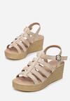 Beżowe Sandały Raiphite