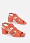 Pomarańczowe Sandały Aeleomeia