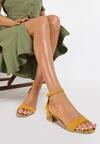 Żółte Wężowe Sandały Poreithe