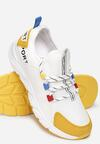 Biało-Żółte Sneakersy Aegadah