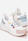 Biało-Różowe Sneakersy Aegadah