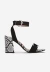 Czarne Sandały Diolyea