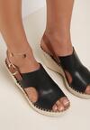 Czarne Sandały Arasea