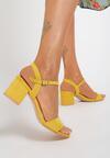 Żółte Sandały Acarianne