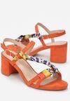 Pomarańczowe Sandały Daphiteia