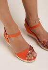 Pomarańczowe Sandały Nemephia