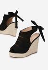 Czarne Sandały Elassia