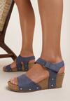 Niebieskie Sandały Allunah