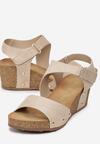Beżowe Sandały Allunah