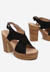 Czarne Sandały Nephemeia