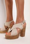 Beżowe Sandały Nephemeia