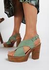Zielone Sandały Nephemeia