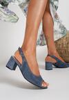Granatowe Sandały Dorealena