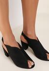 Czarne Sandały Amalisine