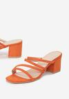 Pomarańczowe Klapki Sirevere