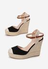 Czarne Sandały Aegalea