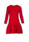 Czerwona Sukienka Lamelirea
