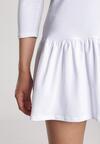 Biała Sukienka Lamelirea