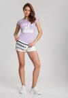 Jasnofioletowy T-shirt Loraisea