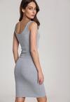 Szara Sukienka Laomephia