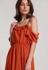 Pomarańczowa Sukienka Echodine