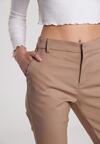 Ciemnobeżowe Spodnie Eligenia