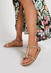 Ciemnobeżowe Sandały Matavia