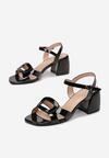 Czarne Sandały Calonei