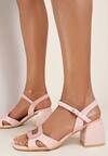 Różowe Sandały Calonei
