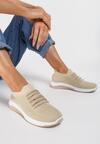 Beżowe Buty Sportowe Salalia