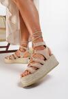 Beżowe Sandały Moresis
