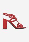 Czerwone Sandały Diossa