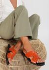 Pomarańczowe Sandały Vakala