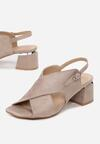 Beżowe Sandały Calypea