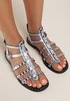Srebrno-Niebieskie Sandały Talilei