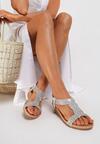Srebrne Sandały Ariva