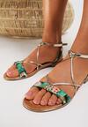 Zielone Sandały Murielle