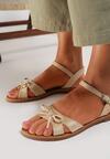 Beżowe Sandały Auralise