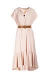Jasnobeżowa Sukienka Adriamere