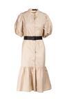 Jasnobeżowa Sukienka Naunelle