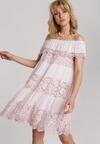 Jasnoróżowa Sukienka Deladina