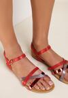 Czerwone Sandały Halinella