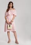 Różowa Sukienka Miraciane