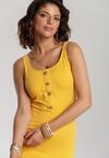 Żółta Sukienka Pallelodia