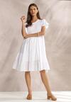 Biała Sukienka Rhesise