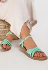 Miętowe Sandały Salosis