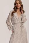 Biało-Fioletowa Sukienka Guinerinias