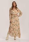 Ciemnobeżowa Sukienka Guinerinias