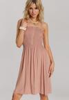 Ciemnobeżowa Sukienka Arrilia